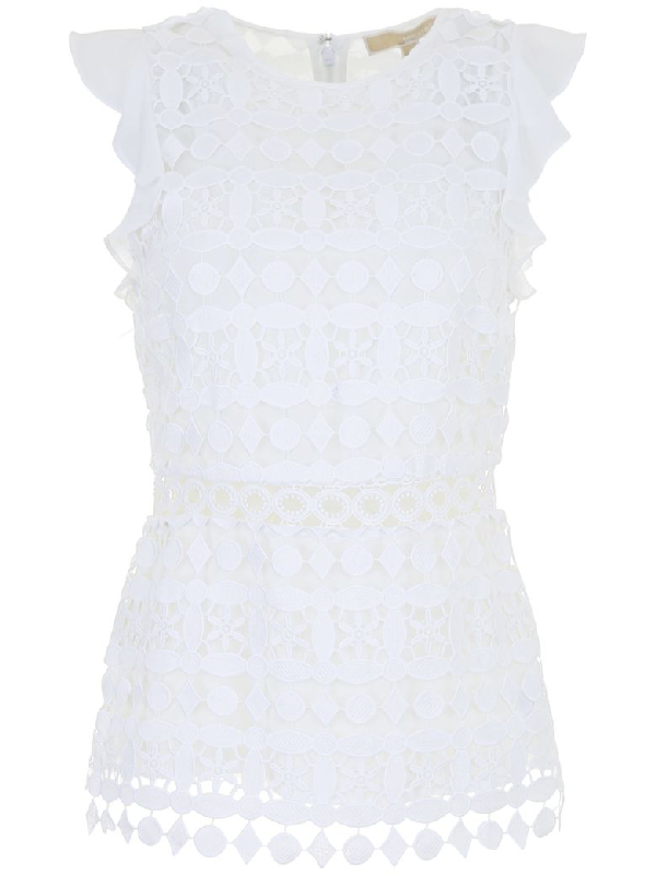 Michael Michael Kors Michael By Michael Kors Top In White|bianco