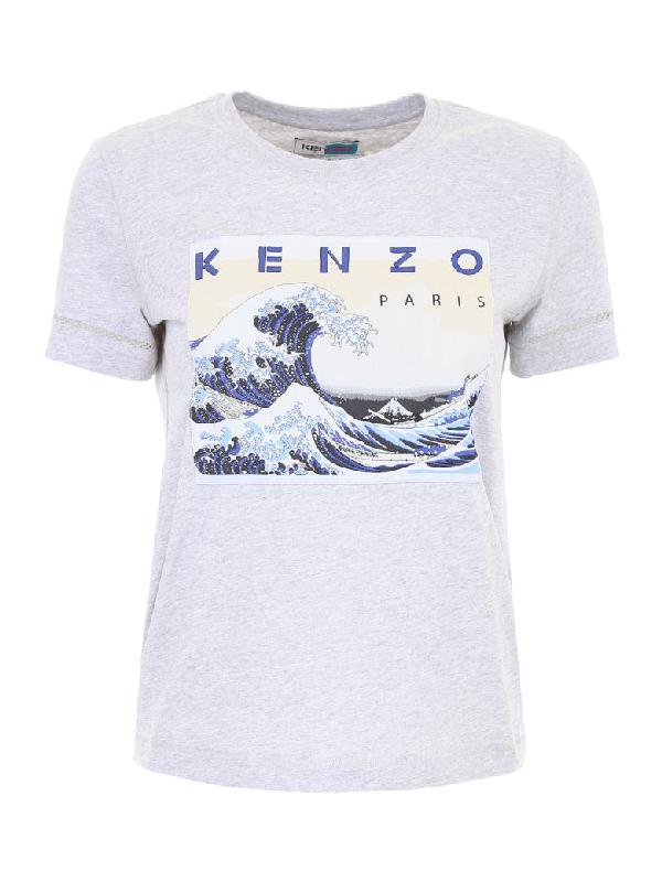 Kenzo Memento T-shirt In Gris Clairgrigio