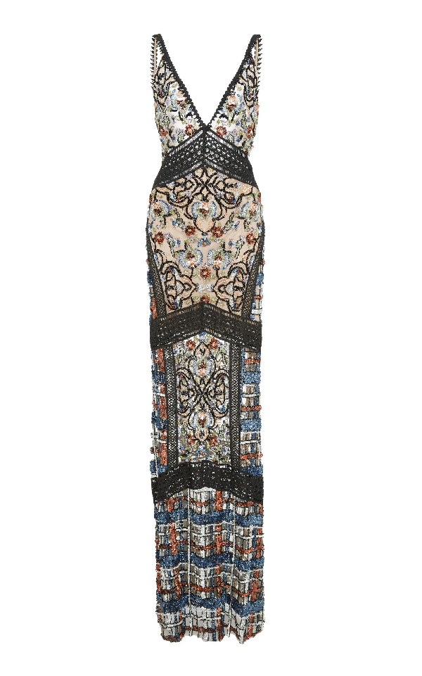 Patbo Beaded Gown In Multi