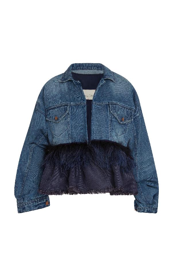 Johanna Ortiz Jose Clemente Cotton Denim Jacket In Blue