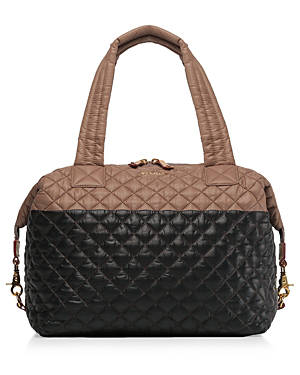 Mz Wallace Large Sutton Bag In Acorn/black/gold