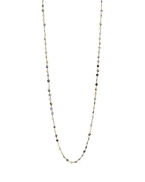 Ela Rae Diana Coin Beaded Chain Necklace, 42 In White Mix