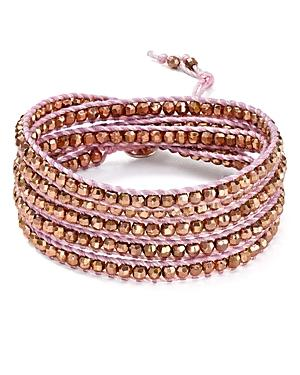 Chan Luu Wraparound Bracelet In Blush/rose Gold