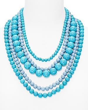 Baublebar Globe Strands Layered Necklace, 18 In Blue