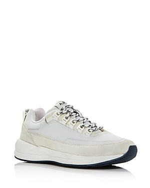 A.p.c. Men's Techno Homme Reflective Lace Up Sneakers In White