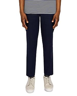 Ted Baker Hinetro Regular Fit Trousers In Navy