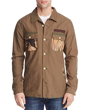Scotch & Soda Military Print Shirt Jacket In Combo