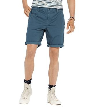Scotch & Soda Regular Fit Chino Shorts In Sage