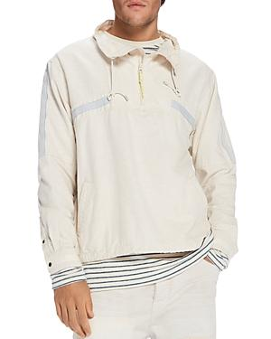 Scotch & Soda Anorak Pullover Shirt In Off White
