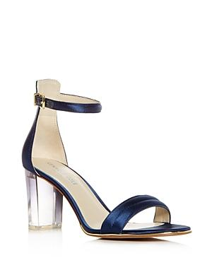 Kenneth Cole Women's Lex Satin High Block Heel Sandals In Navy