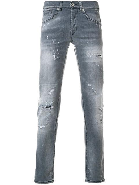 Dondup Distressed Faded Slim Fit Jeans