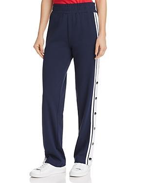 Tommy Jeans Half-snap Track Pants In Black Iris