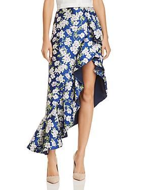 81516dda5 ALICE AND OLIVIA. Alice + Olivia Lovetta Floral Asymmetric Ruffled Skirt ...