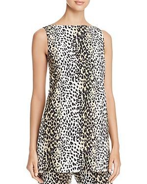 Weekend Max Mara Nino Leopard-print Cutout Tunic In Beige