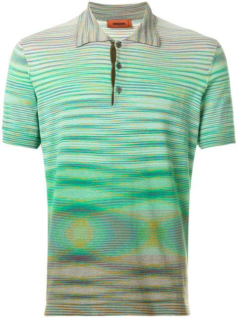 Missoni Gradient Striped Polo Top