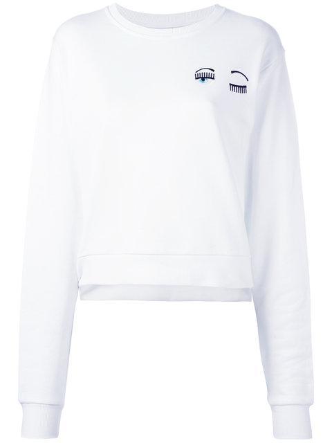 Chiara Ferragni Flirting Sweatshirt - White