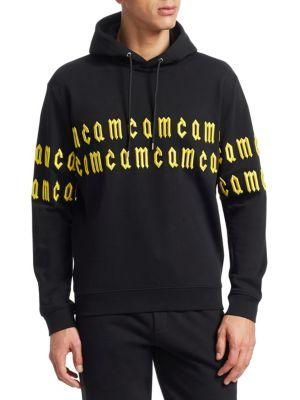 Mcq By Alexander Mcqueen Embroidered Logo Lined Hoodie In Black
