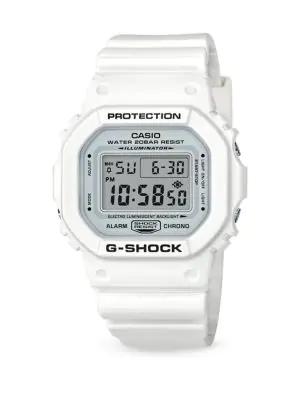 G-shock Shock-resistant Digital Strap Watch In White