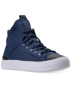 Converse Men's Chuck Taylor All Star Ultra High Top Casual Sneakers From Finish Line In Navy/black/white