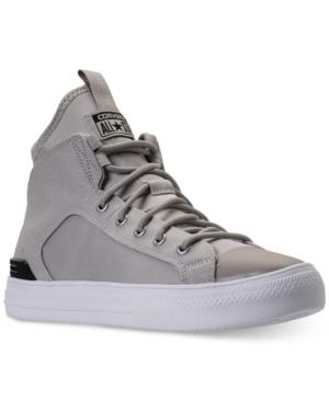 Converse Men's Chuck Taylor All Star Ultra High Top Casual Sneakers From Finish Line In Grey