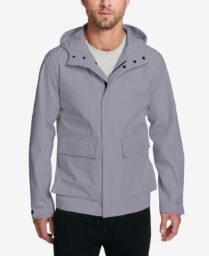 Dkny Hooded Performance Jacket In Silver Mist