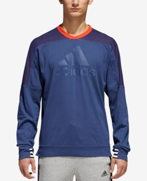 Adidas Originals Adidas Men's Colorblocked Drop-shoulder Sweatshirt In Blue