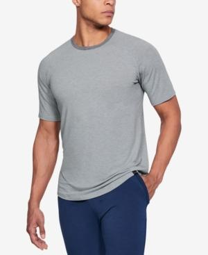 Under Armour Men's Athletic Recovery Short Sleeved Crew Neck Lounge Shirt In Gray
