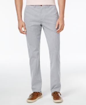 Tommy Hilfiger Men's Stretch Striped Chinos, Created For Macy's In Blue