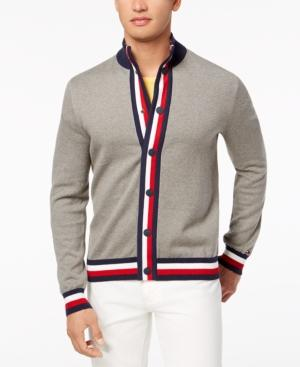 Tommy Hilfiger Men's Gordon Cardigan, Created For Macy's In Frost Grey