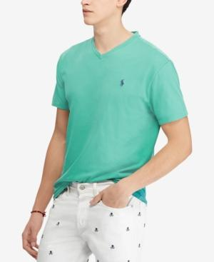 Polo Ralph Lauren Men's Big And Tall Classic-fit V-neck Short-sleeve Cotton Jersey T-shirt In Diver Green