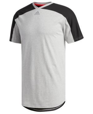 Adidas Originals Adidas Men's Scoop T-shirt In Grey Melenger