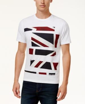 Ben Sherman Men's Slim-fit Graphic Print T-shirt In White