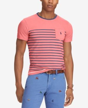 Polo Ralph Lauren Men's Big & Tall Classic Fit Striped T-shirt In Nantucket Red Multi