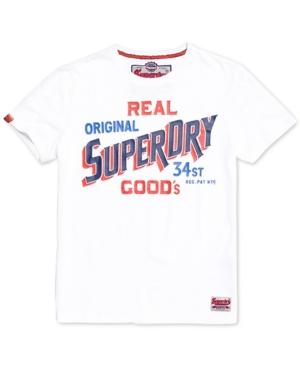 Superdry Men's 34 Street Goods Logo-print T-shirt In Sonix Blue Grindle
