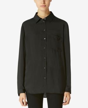 Avec Les Filles Boyfriend Shirt In Black