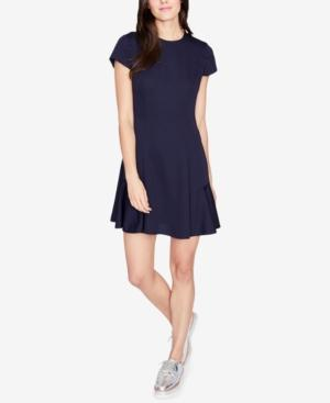 Rachel Rachel Roy Lace-up Fit & Flare Dress, Created For Macy's In True Navy