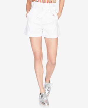 Rachel Rachel Roy Pleated Tie-front Shorts, Created For Macy's In White