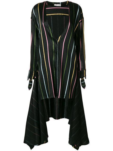 Attico Stripes Black Linen Dress Shirt