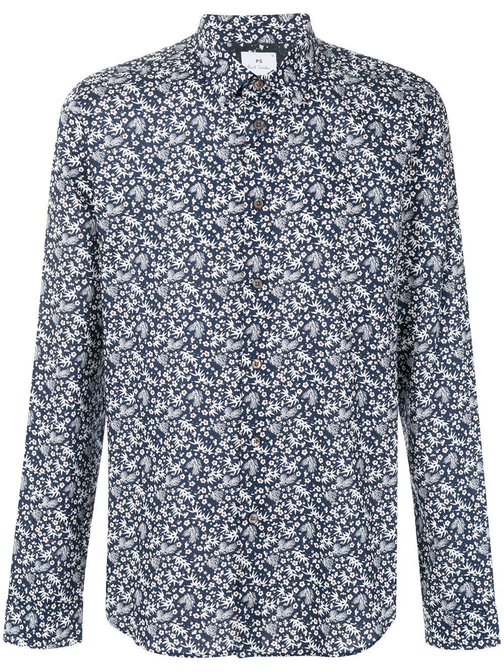 Paul Smith Floral Foliage Print Shirt