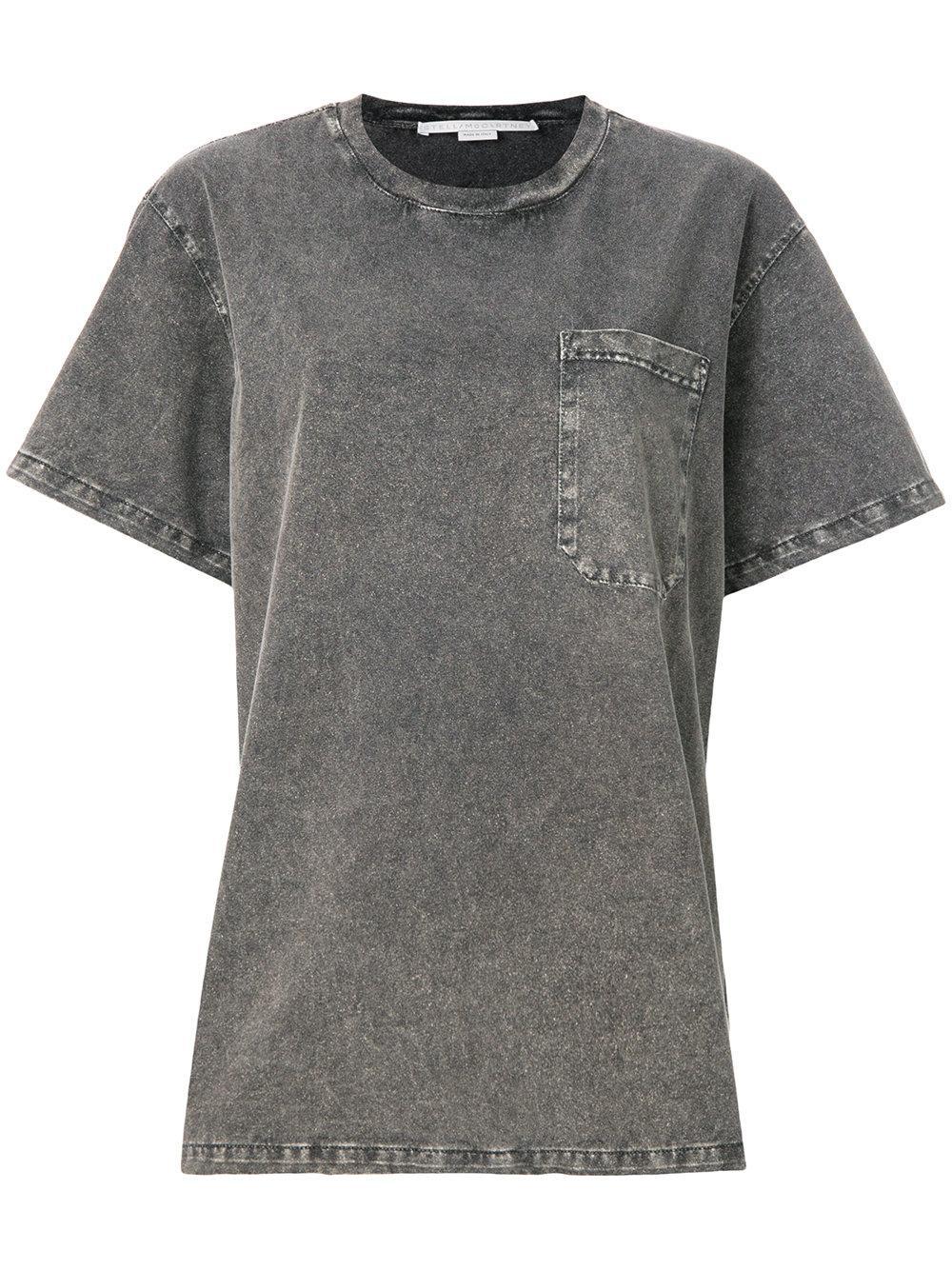 Stella Mccartney Faded Oversized T-shirt - Grey