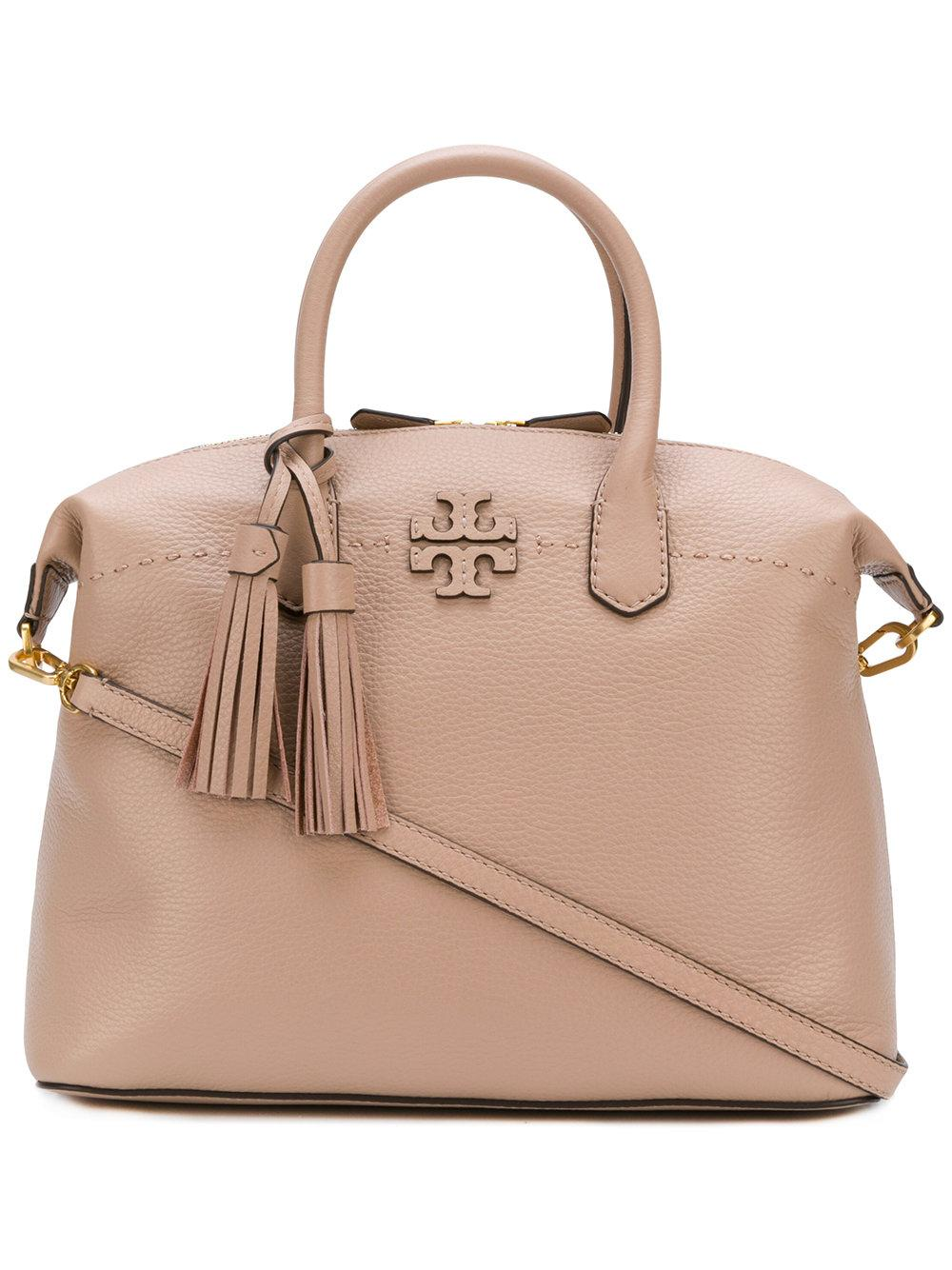 Tory Burch Mcgraw Slouchy Satchel In Pink