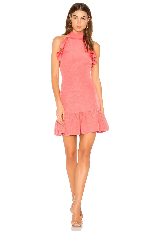 Elliatt Chord Dress In Coral