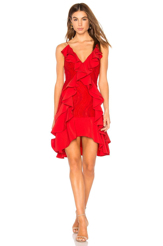 Keepsake Flawless Love Dress In Ruby Red