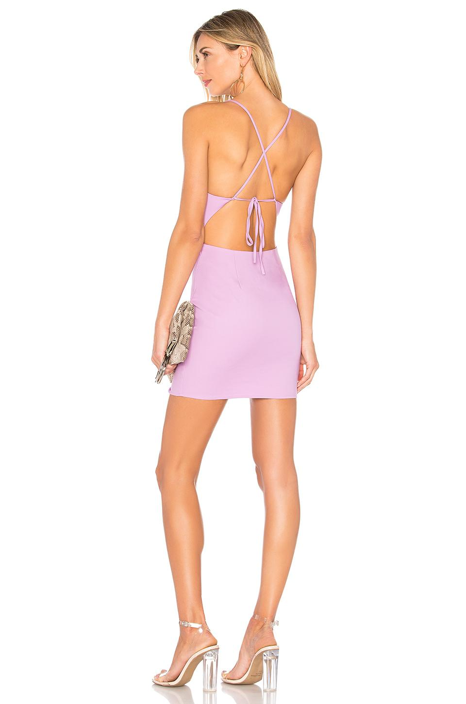By The Way. Ashley Strappy Mini Dress In Lavender