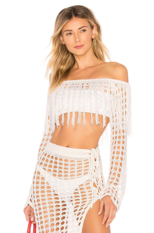 Lovers & Friends Stellar Sweater In White