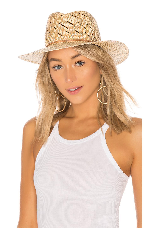 Rag & Bone Zoe Straw Hat In Beige