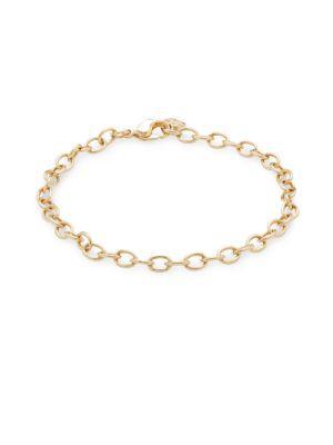 Swarovski Link Charm Bracelet In Gold