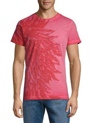 Diesel Graphic Cotton Tee In Red
