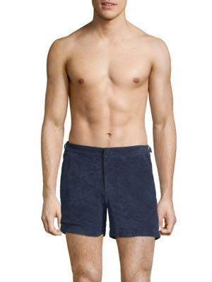 Orlebar Brown Setter Terry Toweling Shorts In Navy