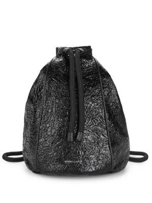 Kendall + Kylie Meadow Textured Drawstring Backpack In Black